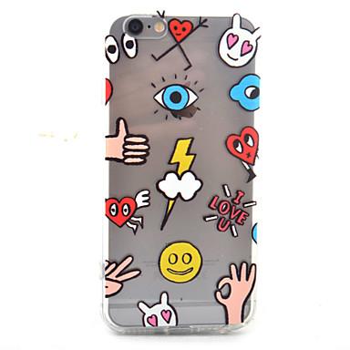 케이스 제품 iPhone 7 Plus iPhone 7 iPhone 6s Plus iPhone 6 Plus iPhone 6s 아이폰 6 Apple iPhone 6 iPhone 7 Plus iPhone 7 투명 패턴 뒷면 커버 심장 하드 아크릴 용