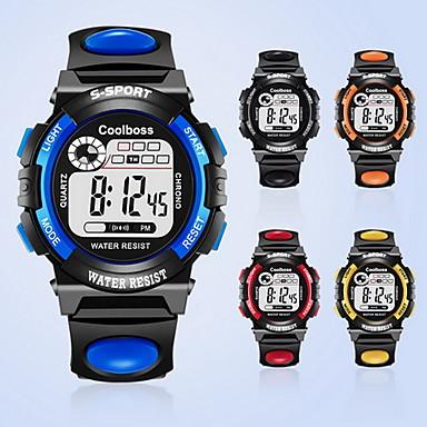 זול שעוני גברים-גברים ילדים שעוני אופנה דיגיטלי / PU להקה יום יומי שחור