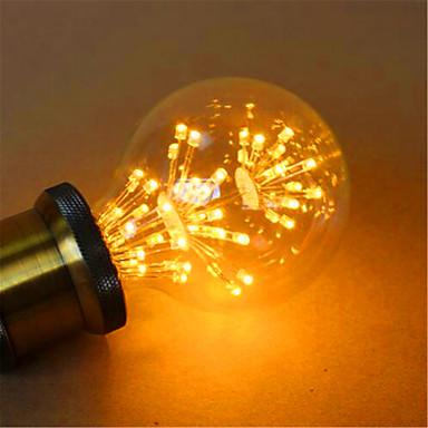 E26/E27 LED 글로브 전구 G80 49 LED가 딥 LED 장식 옐로 800lm 2300K AC 220-240V