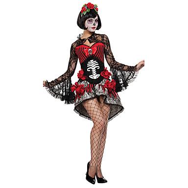 Upiorna Panna Młoda Kostiumy Cosplay Kostium imprezowy Damskie Halloween Festiwal/Święto Kostiumy na Halloween Jendolity kolor