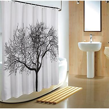Zasłony prysznicowe Nowoczesny Poliester Kwiatowy/roślinny Machine Made