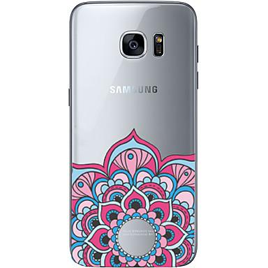 Mert Samsung Galaxy S7 Edge Ultra-vékeny / Minta Case Hátlap Case Mértani formák Puha TPU SamsungS7 edge / S7 / S6 edge plus / S6 edge /
