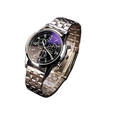커플용 드레스 시계 패션 시계 손목 시계 스포츠 시계 석영 야광 스테인레스 스틸 밴드 캐쥬얼 실버