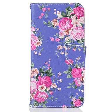Case Kompatibilitás Apple iPhone 7 iPhone 7 Plus iPhone 6 Kártyatartó Minta Teljes védelem Virág Kemény Műbőr Bőr mert iPhone 7 Plus