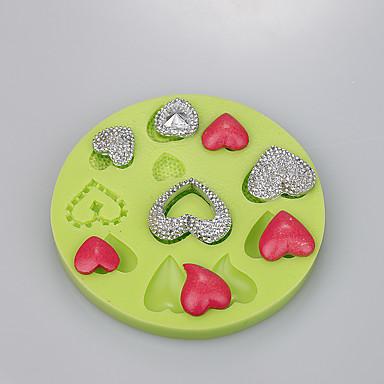 csokoládé öntőforma szerelem szív alakú fondant torta dekoráció szilikon ramdon szín