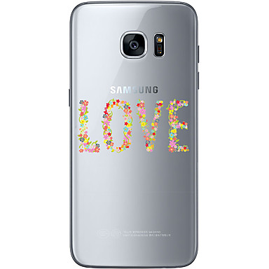 Mert Samsung Galaxy S7 Edge Minta Case Hátlap Case Szív Puha TPU Samsung S7 edge / S7 / S6 edge plus / S6 edge / S6
