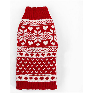 cheap Dog Clothing & Accessories-Dog Sweater Dog Clothes Stripes Woolen Costume For Winter Men's Women's Casual / Daily Christmas