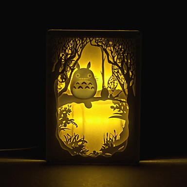 침실 사진 프레임 램프 침대 옆 램프 1 개 토토로 입체 조각 실루엣 램프 빛