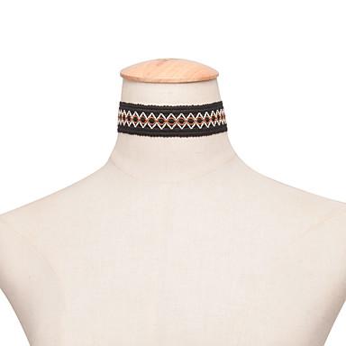 여성 초커 목걸이 레이스 패션 미니멀 스타일 섹시 블랙 보석류 파티 일상 캐쥬얼 1PC