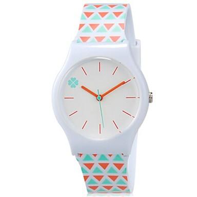 Kwarcowy Zegarek na nadgarstek Kolorowy Plastic Pasmo Słodycze Na co dzień Nowoczesne Pomarańczowy