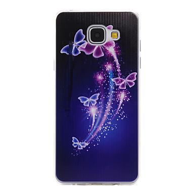 Mert Samsung Galaxy tok Minta Case Hátlap Case Pillangó Puha TPU Samsung A5(2016) / A3(2016)