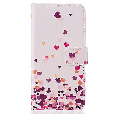 케이스 제품 iPhone 7 iPhone 7 Plus iPhone 6s Plus iPhone 6 Plus iPhone 6s 아이폰 6 iPhone 5 Apple 지갑 카드 홀더 스탠드 플립 패턴 풀 바디 심장 하드 PU 가죽 용 iPhone 7