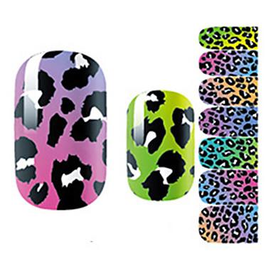 14Pcs/Sheet Nail Art matrica 3D-s körömmatricák Rajzfilm / Szeretetreméltő smink Kozmetika Nail Art Design