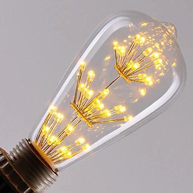 1шт 3W 300lm E26 / E27 LED лампы накаливания ST64 47 Светодиодные бусины Integrate LED Диммируемая звездный Декоративная Тёплый белый