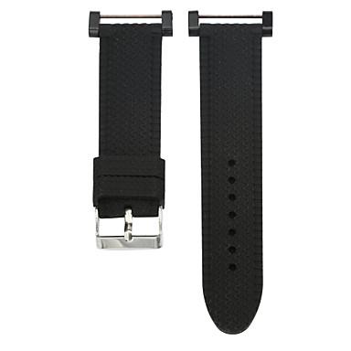 블랙 고무 스포츠 밴드 용 Suunto 손목 시계 24mm