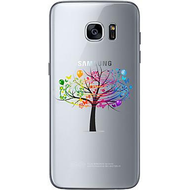 Mert Samsung Galaxy S7 Edge Minta Case Hátlap Case Fa Puha TPU Samsung S7 edge / S7 / S6 edge plus / S6 edge / S6