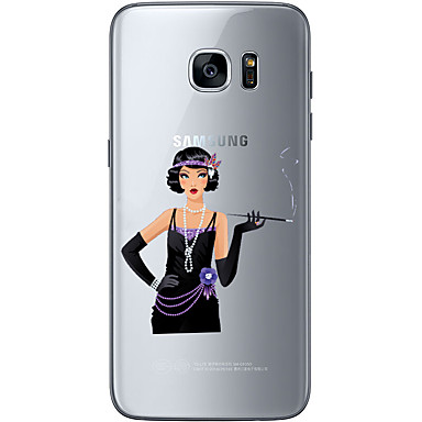 용 Samsung Galaxy S7 Edge 패턴 케이스 뒷면 커버 케이스 섹시 레이디 소프트 TPU Samsung S7 edge / S7 / S6 edge plus / S6 edge / S6