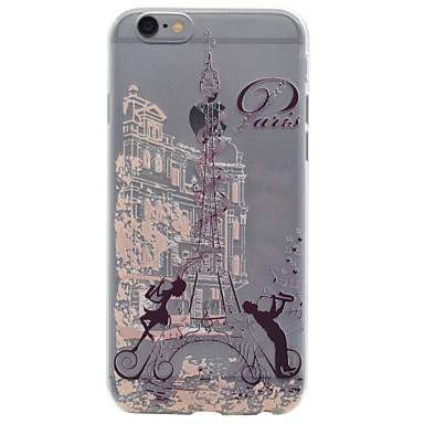 Mert Ultra-vékeny / Minta Case Hátlap Case Eiffel torony Puha TPU AppleiPhone 7 Plus / iPhone 7 / iPhone 6s Plus/6 Plus / iPhone 6s/6 /