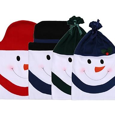 1db aranyos hóember mintás szék fedél nem szövött karácsonyi vacsora székhuzatok meghatározott karácsonyi dekoráció kellékek