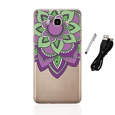 케이스 제품 Samsung Galaxy J5 (2016) J3 (2016) 반투명 패턴 뒷면 커버 만다라 소프트 TPU 용 J5 (2016) J5 J3 (2016) J3 J1 (2016) J1
