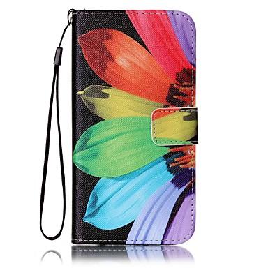 Case Kompatibilitás Samsung Galaxy S8 Plus S8 Kártyatartó Pénztárca Állvánnyal Héjtok Virág Kemény PU bőr mert S8 Plus S8 S7 edge S7 S6