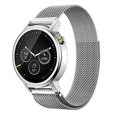 billige Se band for Motorola-Klokkerem til Moto 360 Motorola Milanesisk rem Rustfritt stål Håndleddsrem