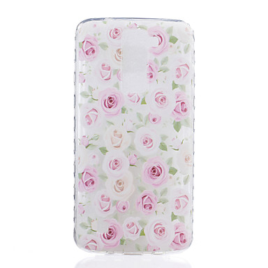 Case Kompatibilitás LG K8 LG LG K10 LG K7 LG G5 Átlátszó Minta Fekete tok Virág Puha TPU mert