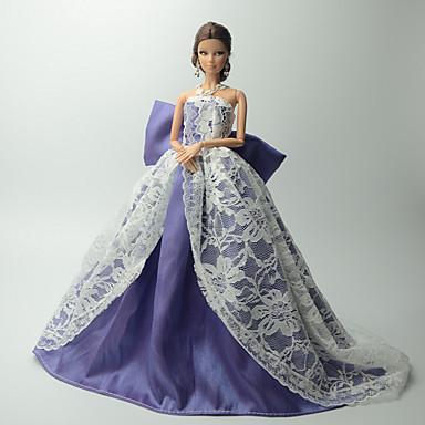 830d26c7576e Πάρτι   Απόγευμα Φορέματα Για Barbiedoll Δαντέλα   Organza Φόρεμα Για Κορίτσια  κούκλα παιχνιδιών