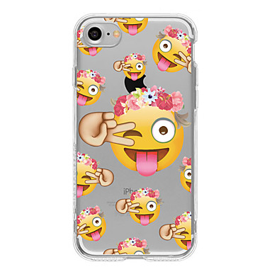 Case Kompatibilitás Apple iPhone 6 iPhone 7 Plus iPhone 7 Minta Fekete tok Rajzfilm Puha TPU mert iPhone 7 Plus iPhone 7 iPhone 6s Plus