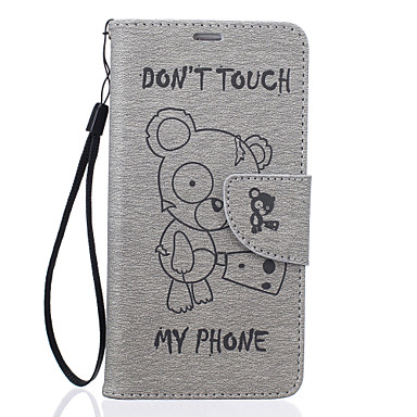 Kılıf Na Samsung Galaxy A5(2016) A3(2016) Etui na karty Portfel Z podpórką Wzór Wytłaczany wzór Pełne etui Rysunek Twarde Skóra PU na