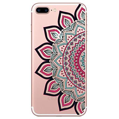 Mert iPhone 7 tok / iPhone 6 tok / iPhone 5 tok Átlátszó / Minta / Dombornyomott Case Hátlap Case Csipke dizájn Puha TPU AppleiPhone 7