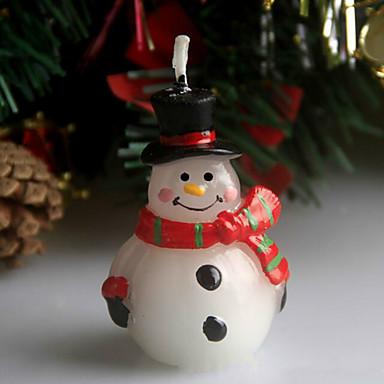 크리스마스 흉터 눈사람 크리스마스 이브 촛불 5cm 스푼 휴일 장식품