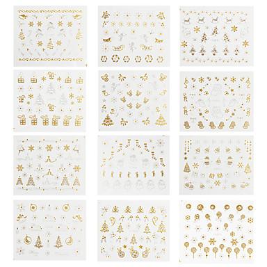 12 Nail Art matrica Víz Transfer Matricák smink Kozmetika Nail Art Design