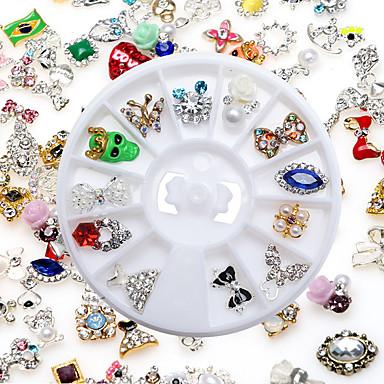 wysokiej jakości losowe modele mieszane z wiertarki manicure biżuterii ze stopu 12 mix zapakowane