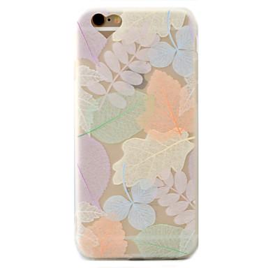 Case Kompatibilitás Apple iPhone 7 iPhone 7 Plus iPhone 6 Jeges Minta Hátlap Fa Puha TPU mert iPhone 7 Plus iPhone 7 iPhone 6s Plus