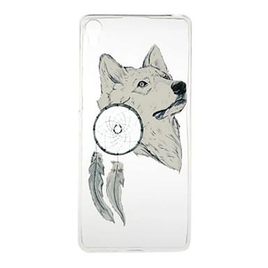 A sony xperia xa e5 fehér farkas minta nagy áteresztőképességű tpu anyag telefonos tok