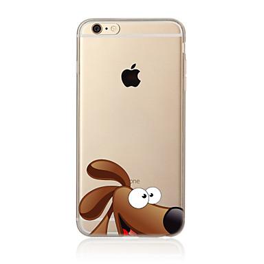 Kılıf Na Apple iPhone X iPhone 8 Plus Etui iPhone 5 iPhone 6 iPhone 7 Półprzezroczyste Wzór Czarne etui Pies Miękkie TPU na iPhone X