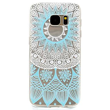 Case Kompatibilitás Samsung Galaxy S7 edge S7 Átlátszó Minta Hátlap Pitypang Puha TPU mert S7 edge S7 S5 Mini S5