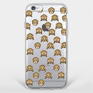 용 패턴 케이스 뒷면 커버 케이스 동물 소프트 TPU Apple 아이폰 7 플러스 / 아이폰 (7) / iPhone 6s Plus/6 Plus / iPhone 6s/6 / iPhone SE/5s/5
