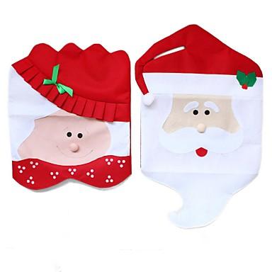 Europa i Ameryka gorąca sprzedaży Santa krzesło obejmuje tabeli dekoracji prezent na Gwiazdkę nowością kolacji krzesło czapce
