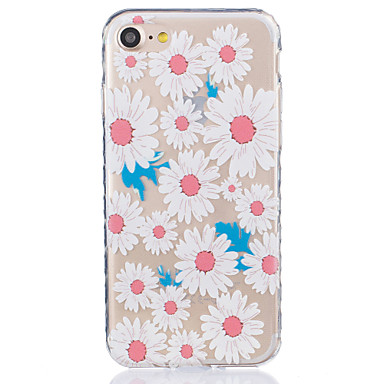 Large Chrysanthemum Pattern Tpu Material Highly Transparent Phone Case For iPhone 7 7 Plus 6s 6 Plus SE 5s 5