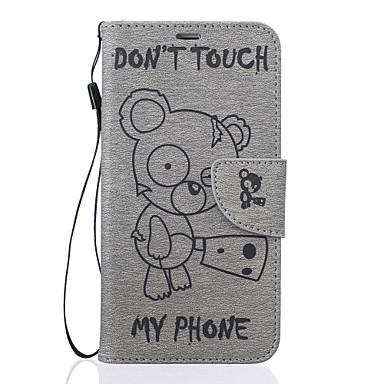 Case Kompatibilitás Samsung Galaxy J7 (2016) J5 (2016) Pénztárca Kártyatartó Állvánnyal Dombornyomott Minta Teljes védelem Rajzfilm Kemény