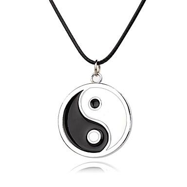 Муж. Жен. Ожерелья с подвесками  -  Уникальный дизайн Черный / Белый Ожерелье Назначение Для вечеринок Повседневные