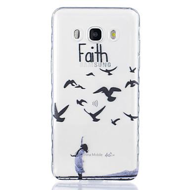 Case Kompatibilitás Samsung Galaxy J7 (2016) J5 (2016) Átlátszó Minta Fekete tok Állat Puha TPU mert J7 (2016) J5 (2016) J5 J3 Pro J3 J1