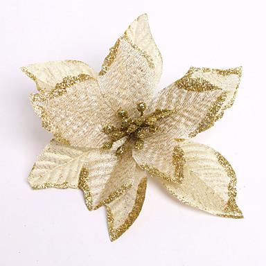 Wesołych Świąt! Nowe 13cm 6 kolorów Boże Narodzenie dekoracje kwiatowe, kwiaty sztuczne porodzie xmas drzewa ozdoba enfeite de Natal