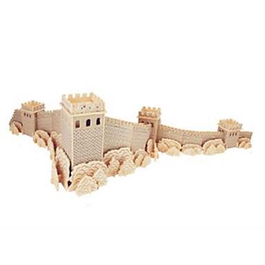 Jigsaw Puzzle Fából készült építőjátékok Építőkockák DIY játékok kínai építészet 1 Fa Kristály