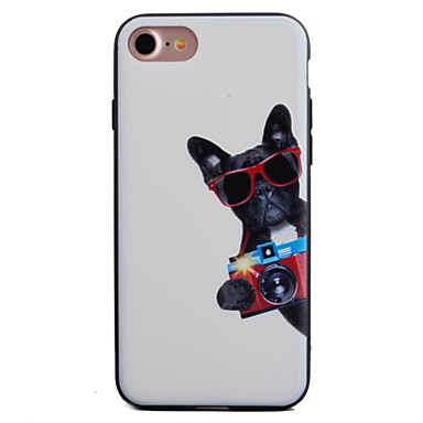 용 엠보싱 텍스쳐 / 패턴 케이스 뒷면 커버 케이스 동물 하드 아크릴 Apple 아이폰 7 플러스 / 아이폰 (7) / iPhone 6s Plus/6 Plus / iPhone 6s/6
