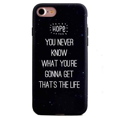 용 패턴 케이스 뒷면 커버 케이스 단어 / 문구 하드 아크릴 Apple 아이폰 7 플러스 / 아이폰 (7) / iPhone 6s Plus/6 Plus / iPhone 6s/6