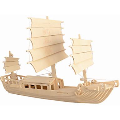 Jigsaw Puzzle Fából készült építőjátékok Építőkockák DIY játékok Hajó 1 Fa Kristály