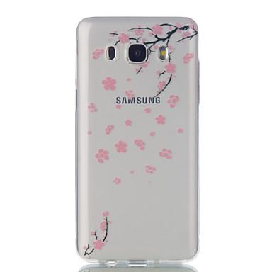 Case Kompatibilitás Samsung Galaxy J7 (2016) J5 (2016) Ultra-vékeny Átlátszó Minta Hátlap Virág Puha TPU mert J7 (2016) J5 (2016) J5 J3